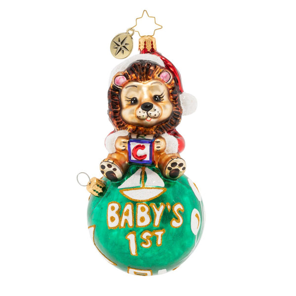 Christopher Radko Baby The Mane Event Lion First Christmas Ornament