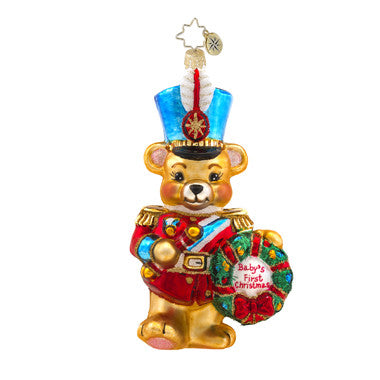Radko MARCHING BABY BEAR First Christmas Ornament