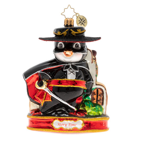 Christopher Radko Masked & Valiant Zorro Ornament