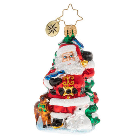 "Christopher Radko Santa's Menagerie of Friends Gem 3"" Ornament Animals"