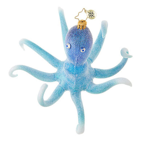Radko MERRY MOLLUSC Octopus Ocean Blue Ornament New 2017