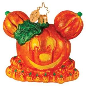 Radko DISNEY Halloween Mickey Pumpkin Ornament NEW LE600
