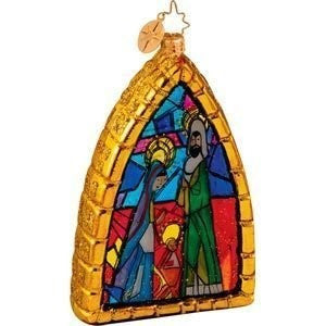 Radko MIDNIGHT STAINED GLASS Wise Men Nativity ornament NEW