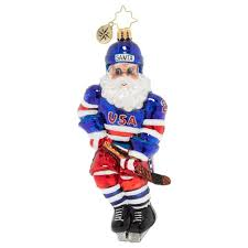 Christopher Radko A Miracle On Ice Hockey Santa Ornament Sports