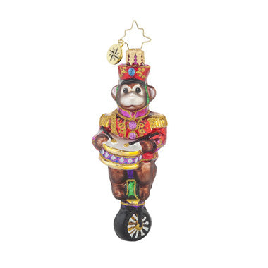 Radko Little Gems MONKEYING AROUND Monkey Circus Gem ornament NEW