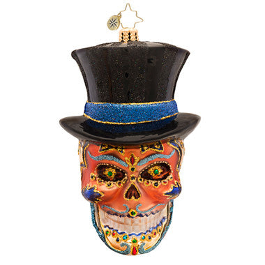 Radko MR DEAD Skull Day of the Dead Ornament
