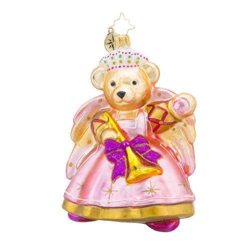Radko Baroque Muffy Vanderbear Teddy Bear Angel Pink Ornament New