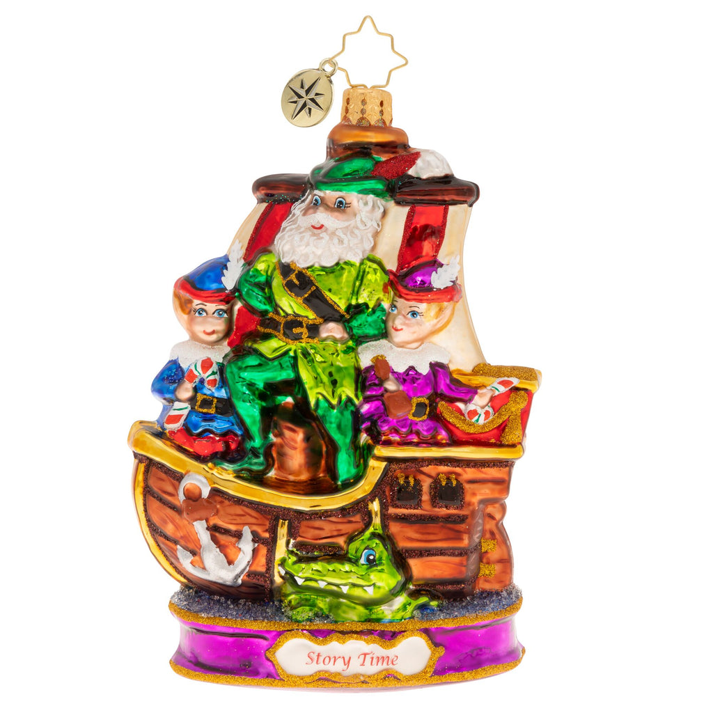 Christopher Radko Meet Me In Neverland Santa as Peter Pan Ornament