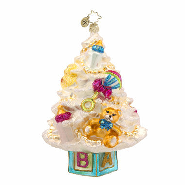 Radko NEWBORN TREE Baby Christmas Ornament NEW