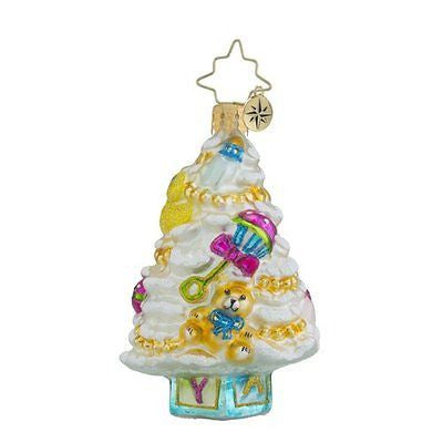 Christopher Radko Baby Little Gem NEWBORN Tree Christmas Ornament