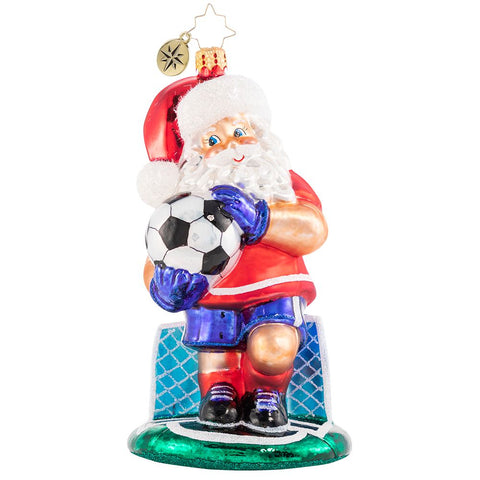 Christopher Radko Grass Stains For Goalie Glory Soccer Ornament