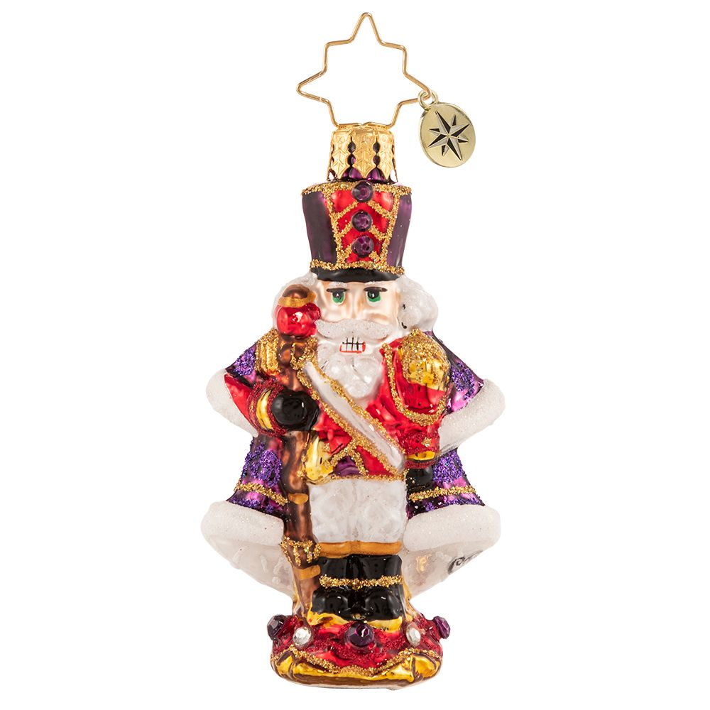 Christopher Radko A Stoic Soldier Nutcracker Gem Ornament