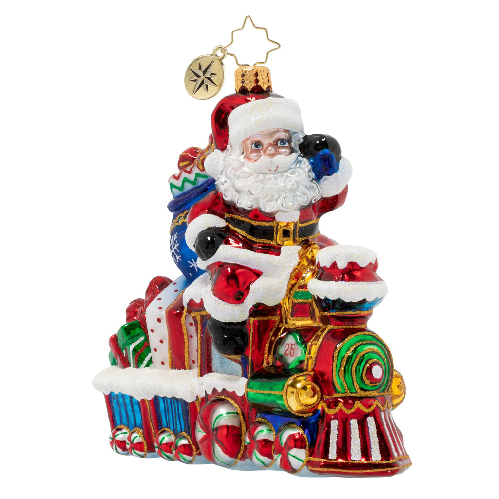 Christopher Radko On The Tracks Santa Train Ornament