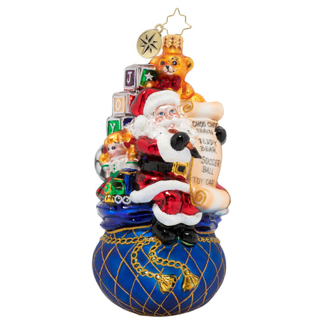 Christopher Radko One Last Check! Santa with Toys Ornament