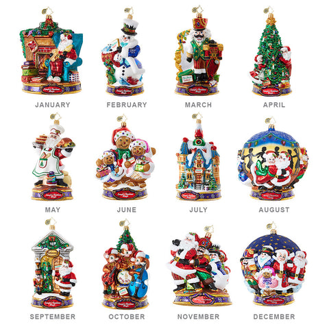 Christopher Radko  KRINGLE'S Christmas MINGLE Ornaments SET OF 12