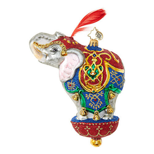 Christopher Radko ORNAMENTAL MAMMOTH Elephant Ornament NEW