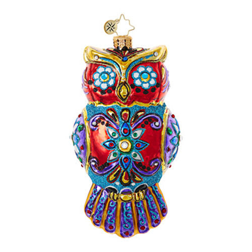 Radko ORNATE OWL Christmas ornament (Pre-Order 2017)