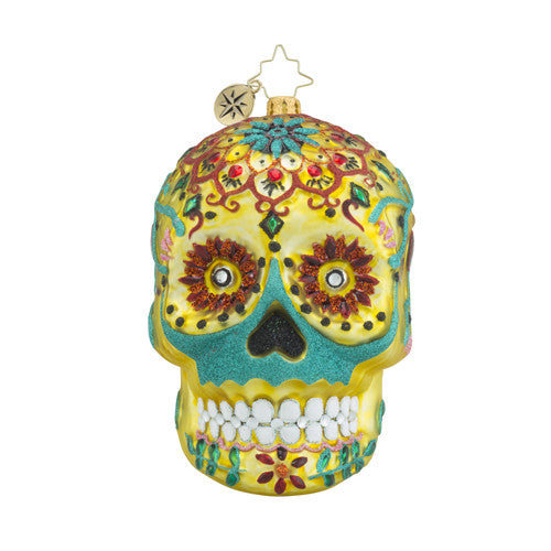 Radko La Calavera de Oro Day of the Dead Skull ornament New