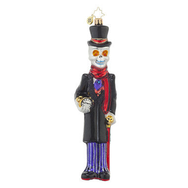 Radko HALLOWEEN OUT OF TIME Skeleton Ornament New