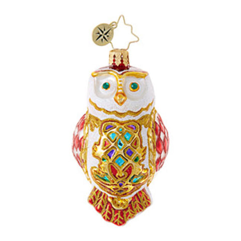 Radko Owl Fly Away Christmas Little Gem Ornament  New RETIRED