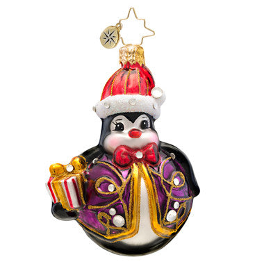Radko LITTLE GEMS Penny Go Round Penguin ornament NEW