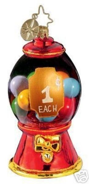 Radko Little Gems PENNY'S A POCKETFUL Bubble Gum ornament