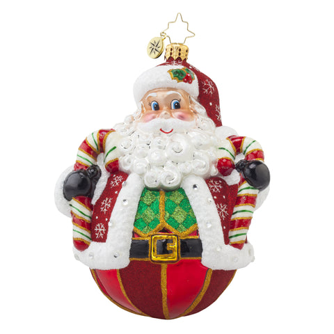 Radko PEPPERMINT POLY Claus Santa ornament NEW