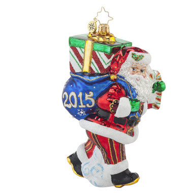 Christopher Radko DATED 2015 Perfect Timing Nick Santa ornament