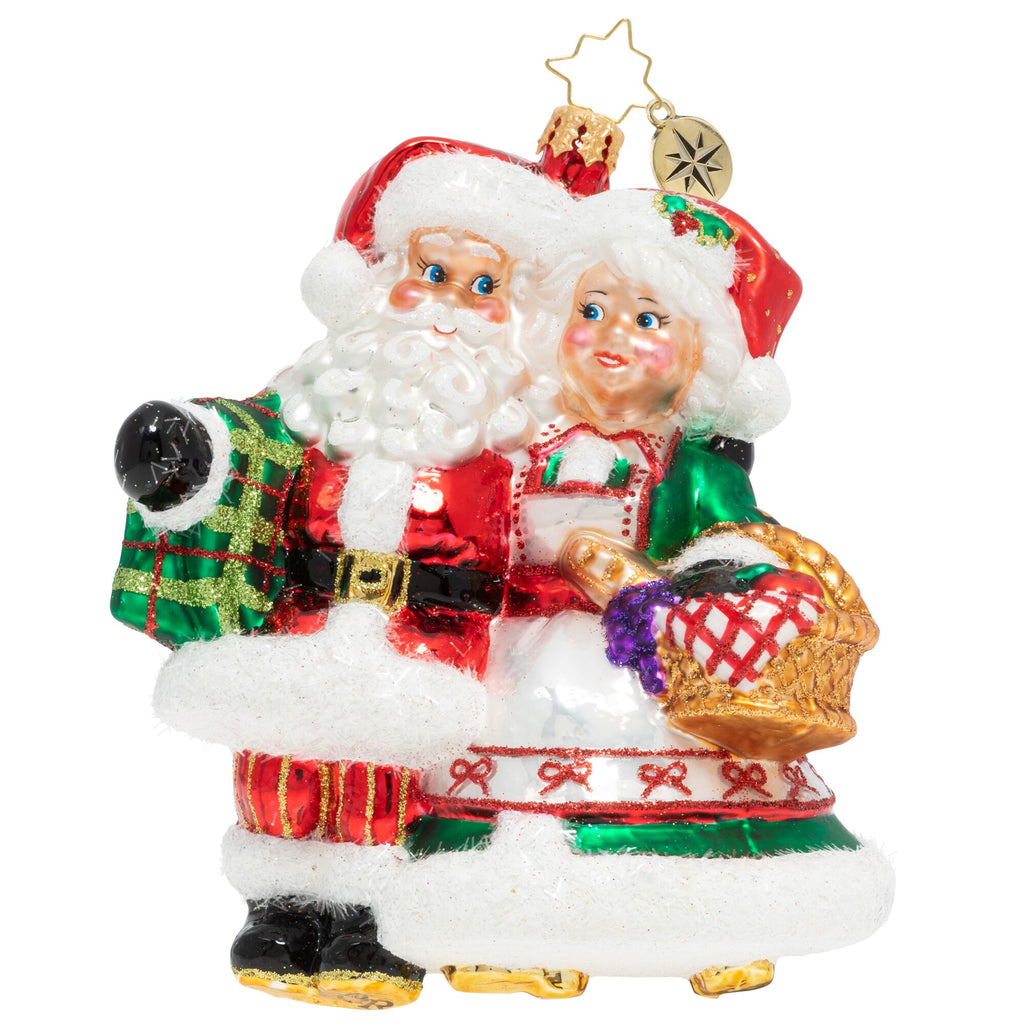 Christopher Radko A Picnic With St. Nick Couple Santa ornament