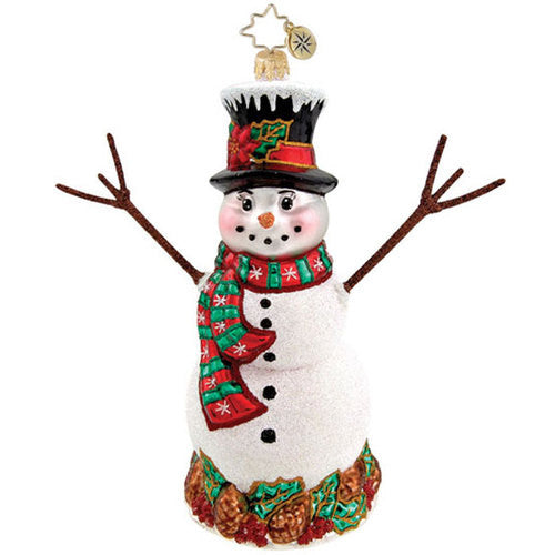 Radko PINECONE PAL Snowman ornament NEW