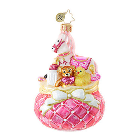 Radko Baby's Pink Princess Christmas Ornament NEW 2017