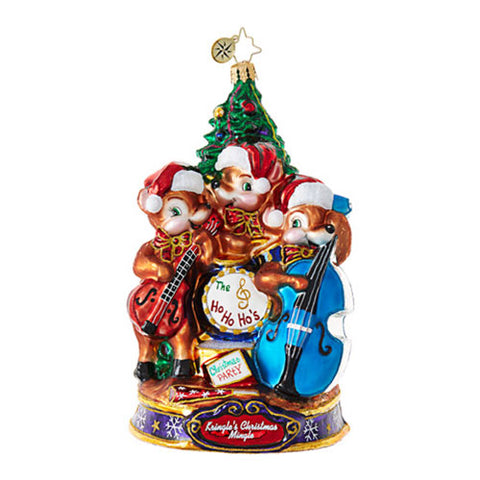 Christopher Radko PLAY OUR SONG Reindeer Band Kringle Christmas Mingle Ornaments New 2017