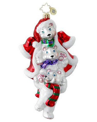 Radko POLAR STACK PACK 3 Bear Kids? ornament NEW