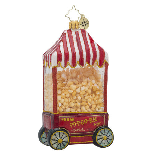 Christopher Radko HOT POP Popcorn Stand Christmas ornament New
