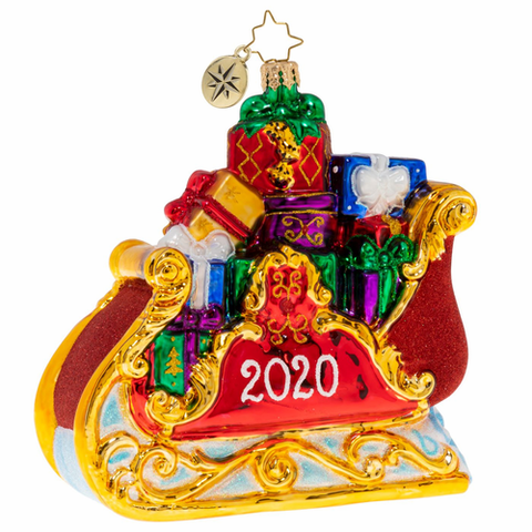 Christopher Radko 2020 Dated Precious Cargo Sleigh Ornament