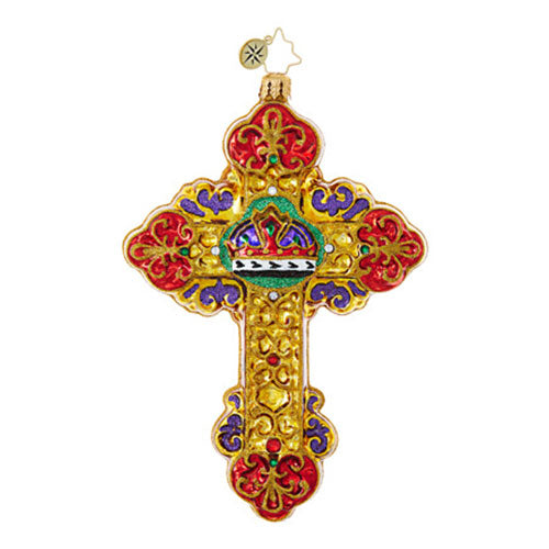 Christopher Radko Prince of Peace Cross ornament