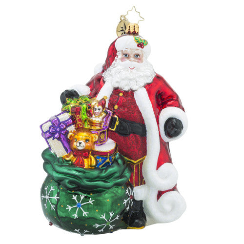 Radko PROMISE TO PLEASE Santa Christmas ornament New