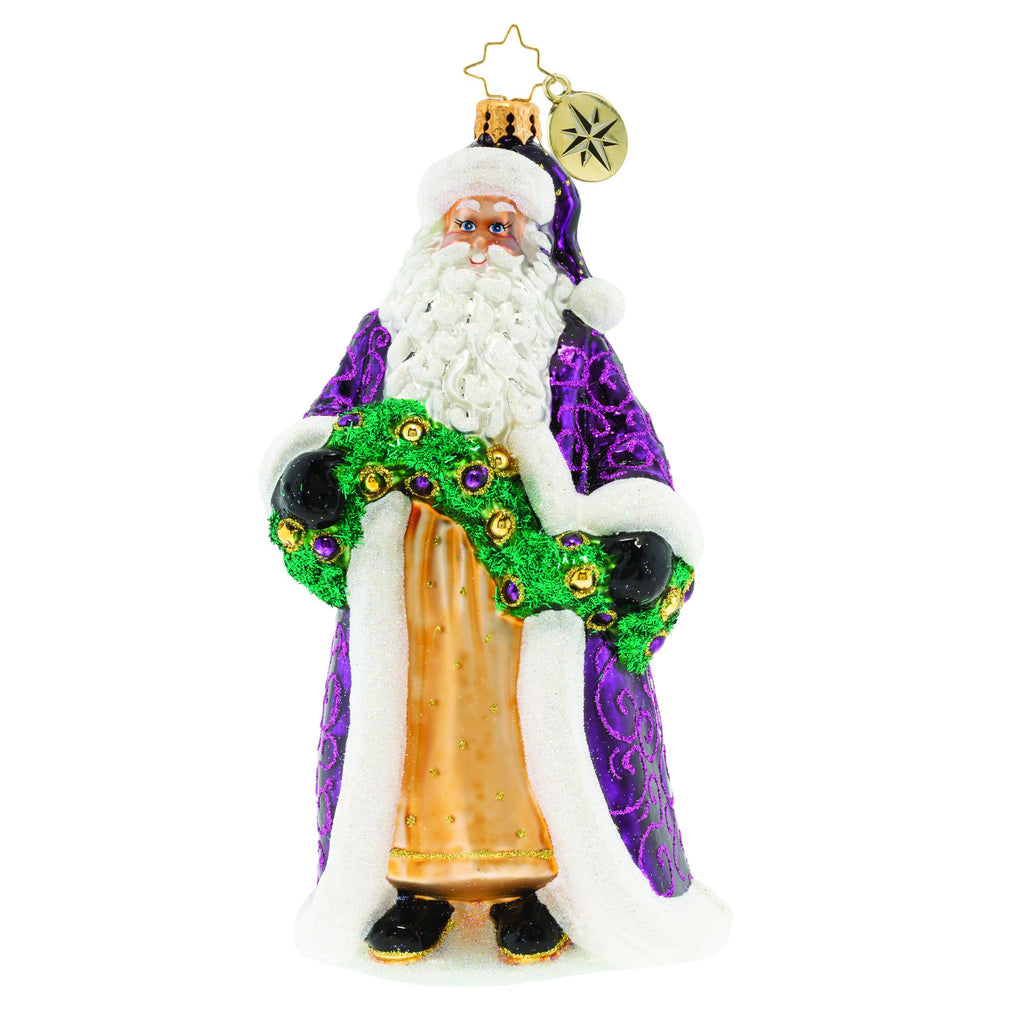 Christopher Radko Santa's Got a Brand New Purple Coat Ornament
