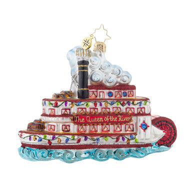 Christopher Radko QUEEN OF THE RIVER Steamboat Ornament