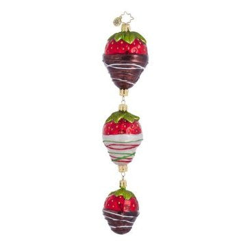 Christopher Radko A QUICK DIP Chocolate Covered Strawberry ornament