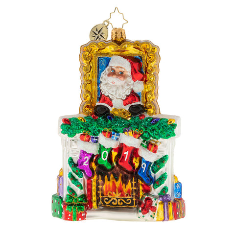 Christopher Radko 2019 Dated Fireside Christmas Ornament