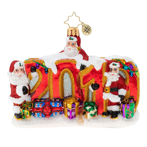 Christopher Radko Dated 2019 Meeting of The Minds Santa Ornament