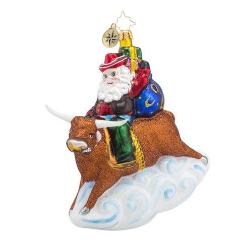 Radko 8 SECOND NICK Santa Bullrider ornament NEW