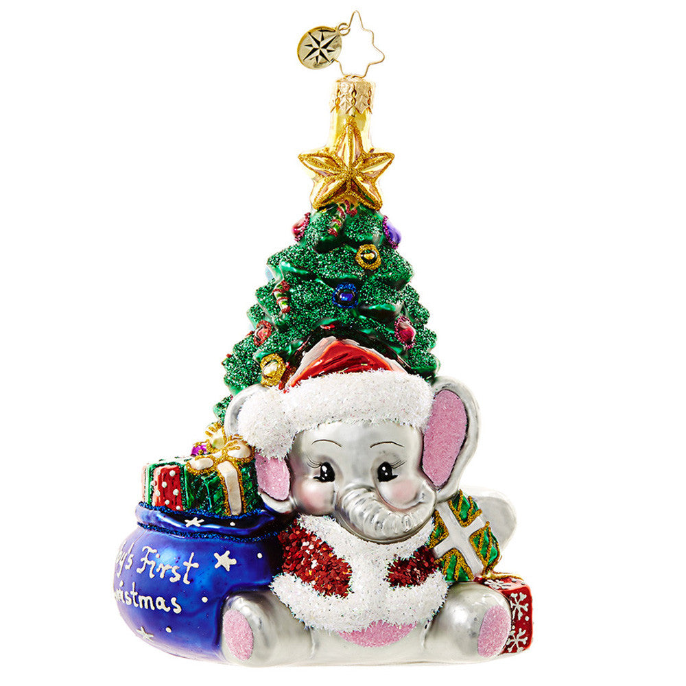 Radko BABY A Trunk-ful First Christmas Ornament (Pre-Order 2017)