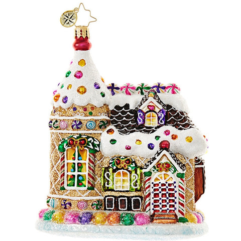 Christopher Radko HOME SWEETS HOME Candy House ornament NEW