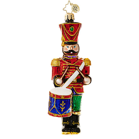 Christopher Radko Leading the Way Drummer Toy Soldier ornament SALE