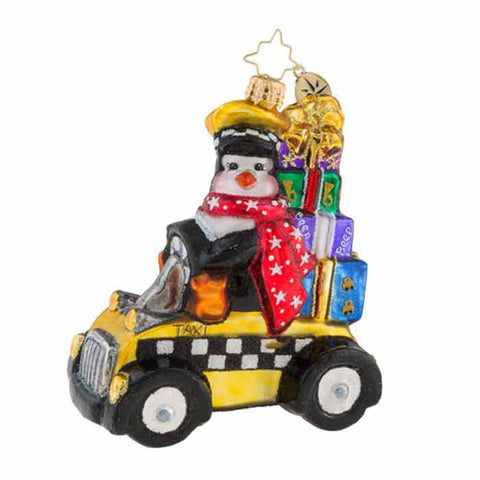 Christopher Radko A Cabbie's Tale Christmas Taxi Ornament (PRE-ORDER!)