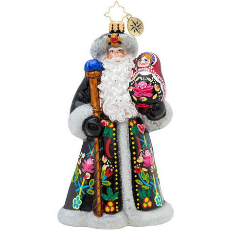 Christopher Radko A Gift Of A Matryoshka Doll Santa Ornament