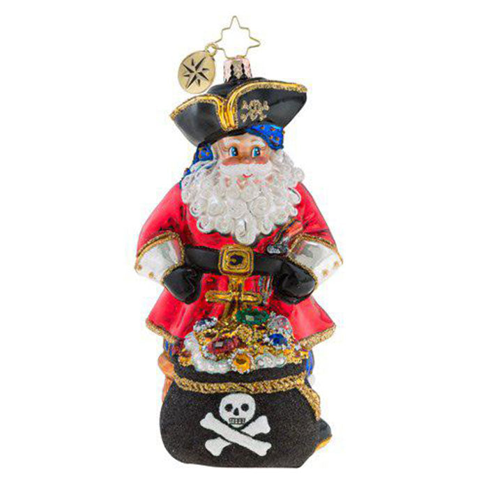 Christopher Radko A Leg To Stand On Pirate Ornament