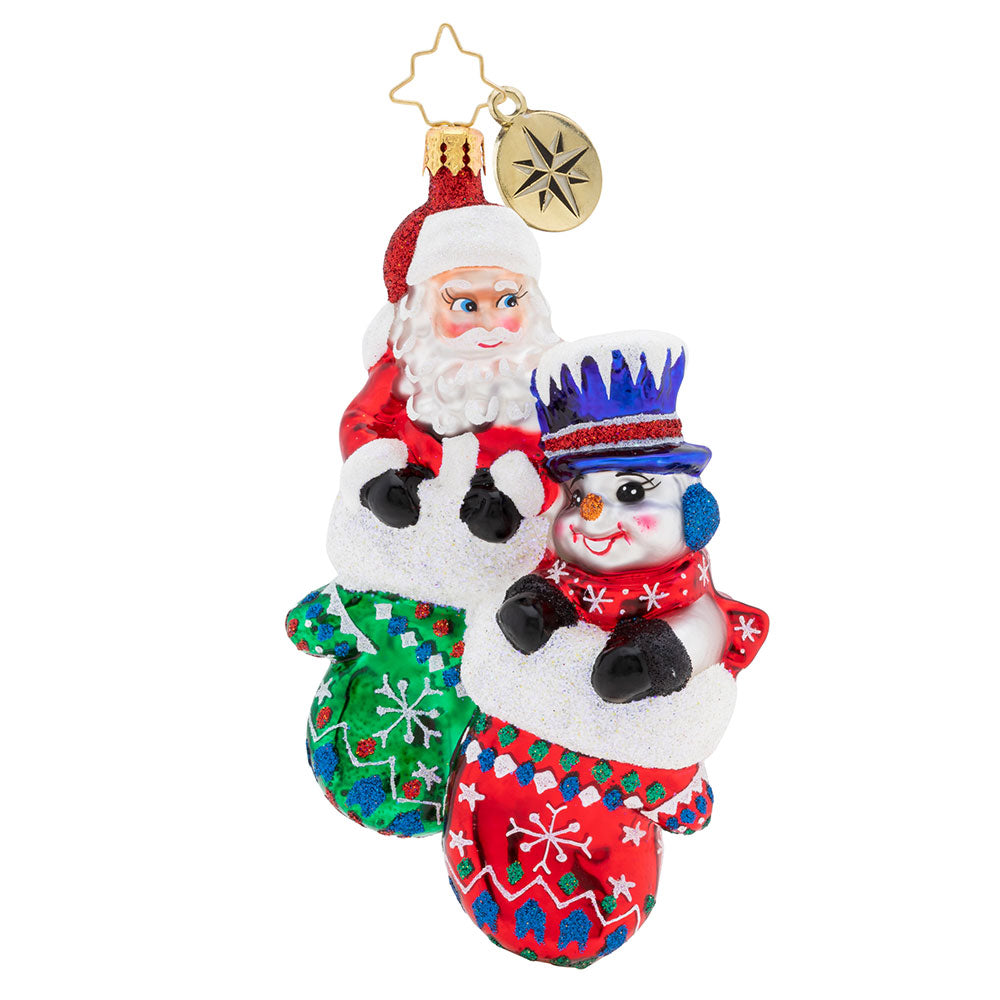 Christopher Radko A Perfect Pair Friends Santa Snowman Ornament
